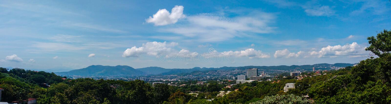 San Salvador El Salvador Panorama. San Salvador El Salvador between the Rain Panorama Central america . Come and visit royalty free stock images