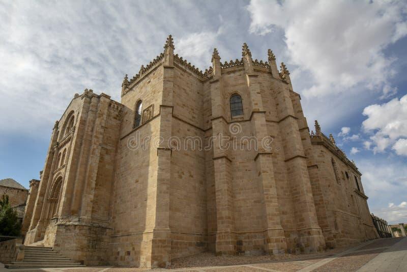 San Salvador Romanesque Cathedral in Zamora lizenzfreies stockbild