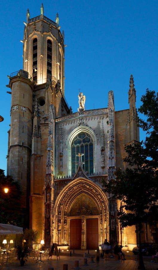 San-Sauveur della cattedrale a Aix-en-Provence fotografia stock libera da diritti
