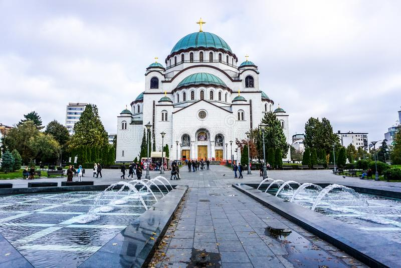 San Sava Cathedral di Belgrado immagine stock