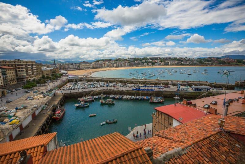 San Sebastián Strand stockbild