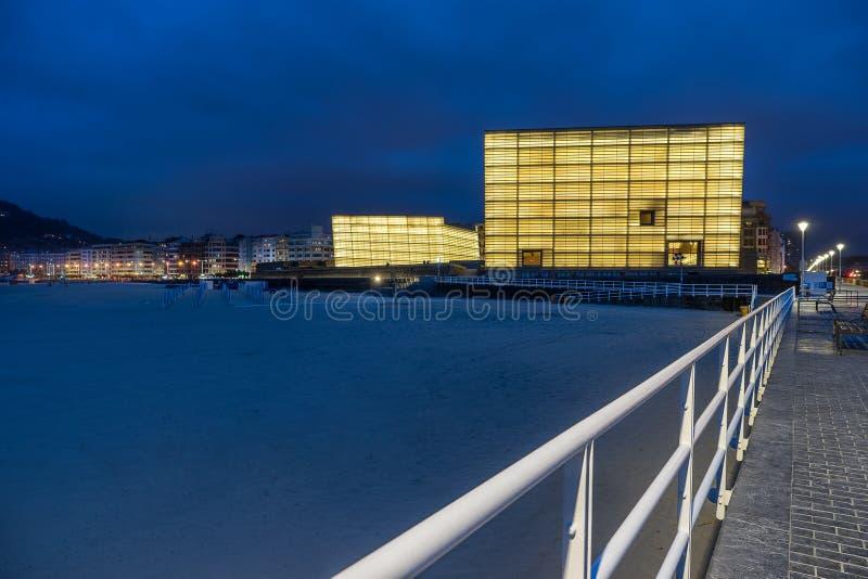 The Kursaal Congress Centre in San Sebastian stock image