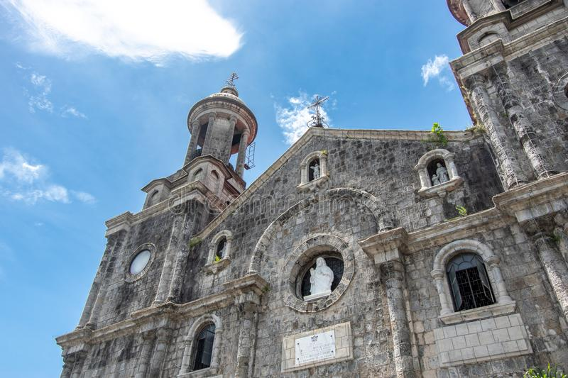San Sebastian Cathedral in Bacolod stock afbeelding