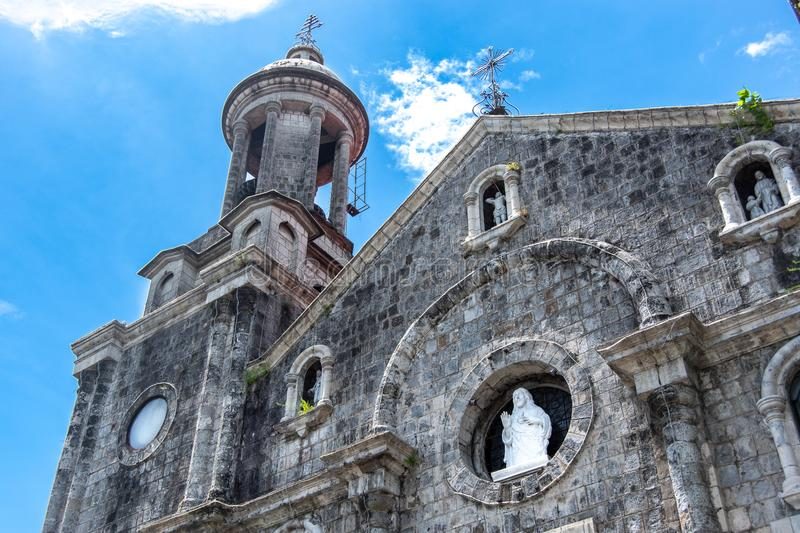 San Sebastian Cathedral in Bacolod stock afbeeldingen