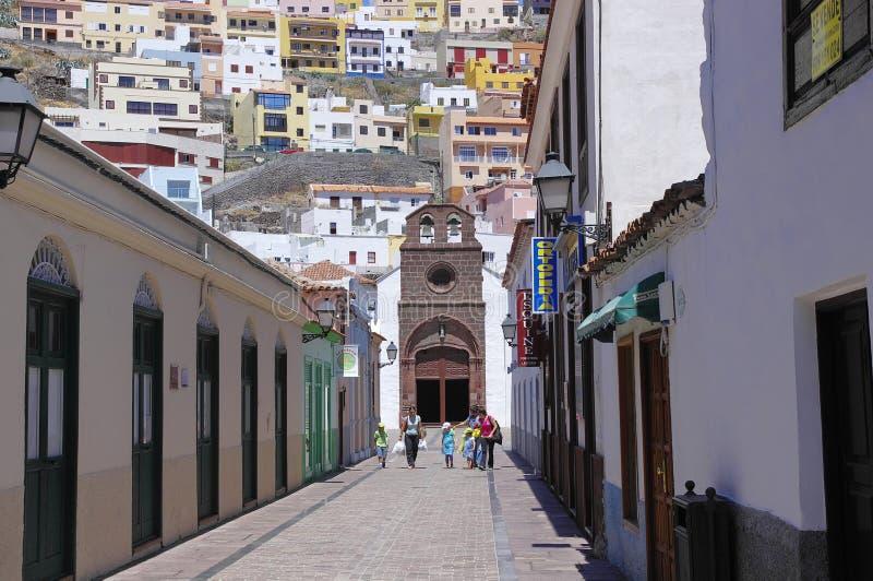 SAN SEBASTIAN DE LA GOMERA, AUGUST 8, 2014; Canary island, Spain royalty free stock image
