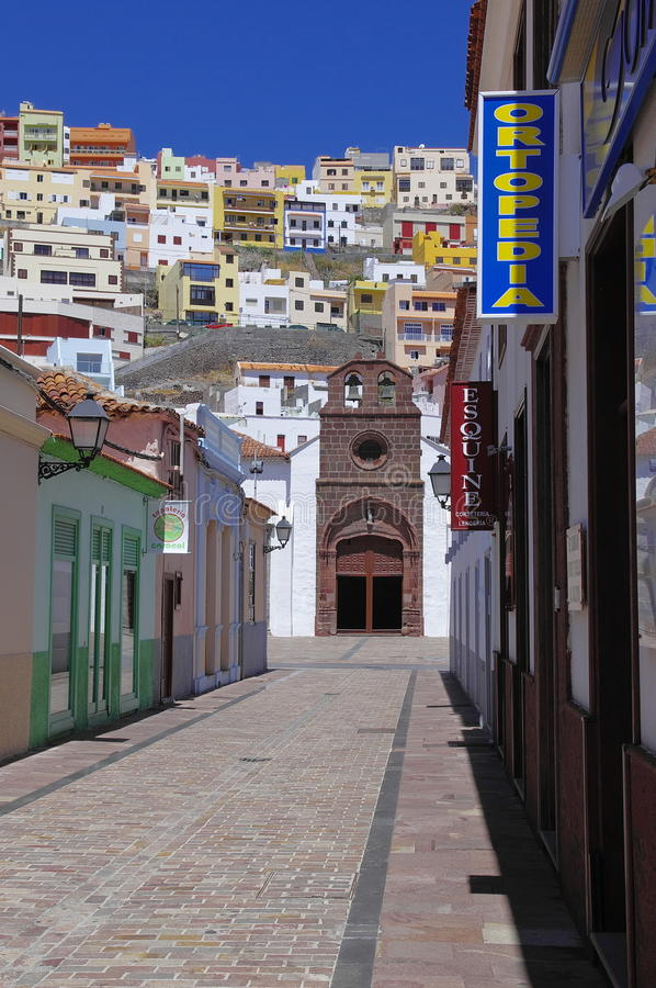 SAN SEBASTIAN DE LA GOMERA,Canary island, Spain royalty free stock photography