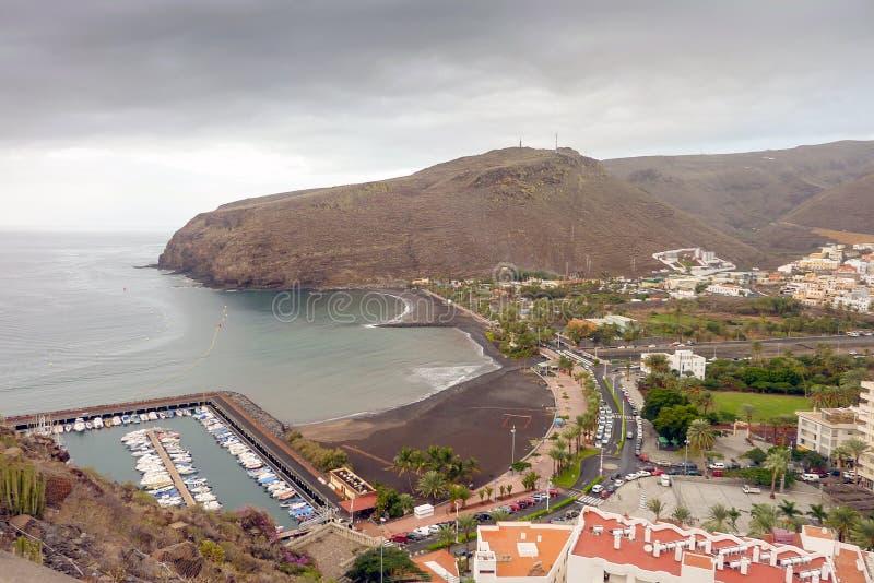 San Sebastian de La Gomera. La Cueva Beach in San Sebastian de La Gomera stock images