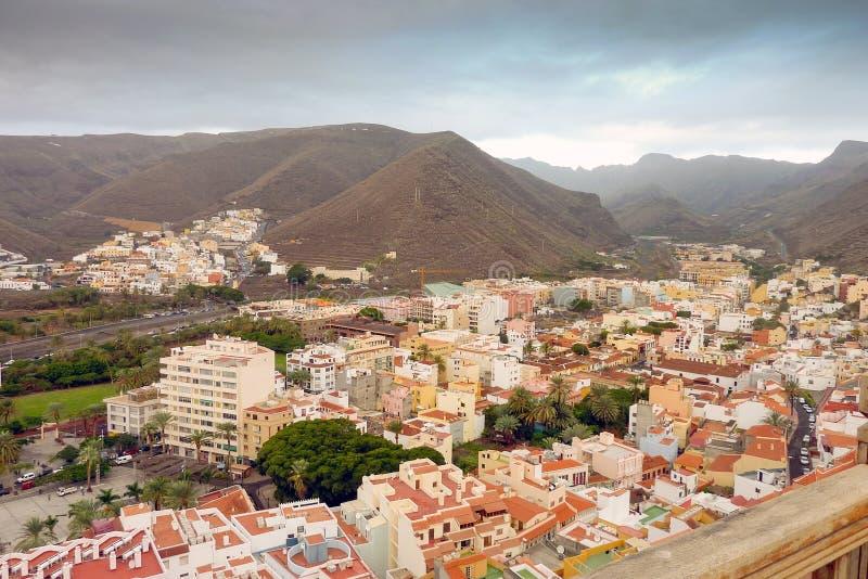 San Sebastian de La Gomera. Panoramic view of San Sebastian de La Gomera stock photos