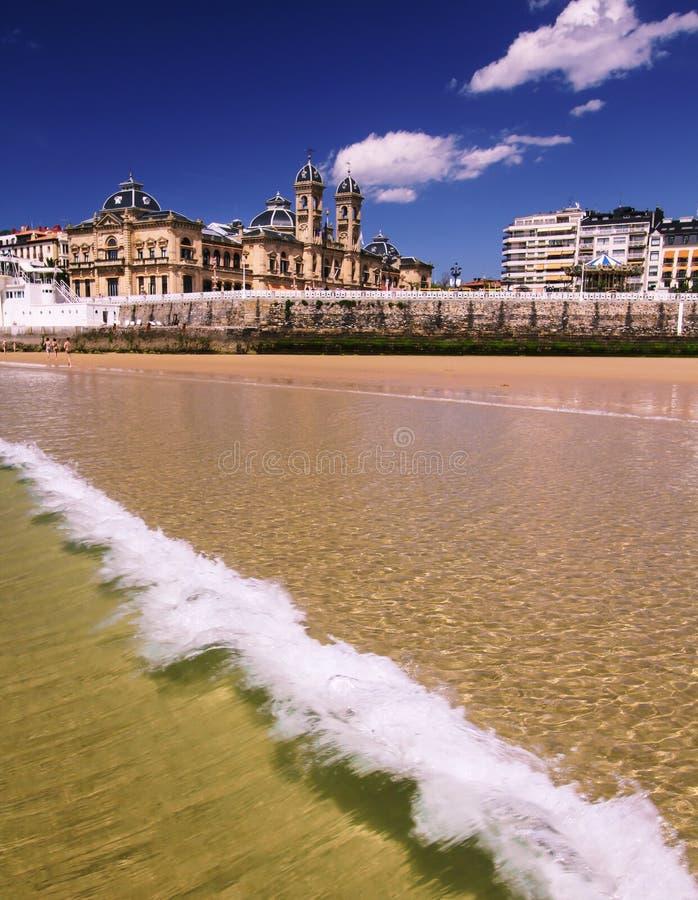 San Sebastian. Donostia San Sebastian European Capital of Culture 2016 Basque Country Spain Concha Bay royalty free stock photo