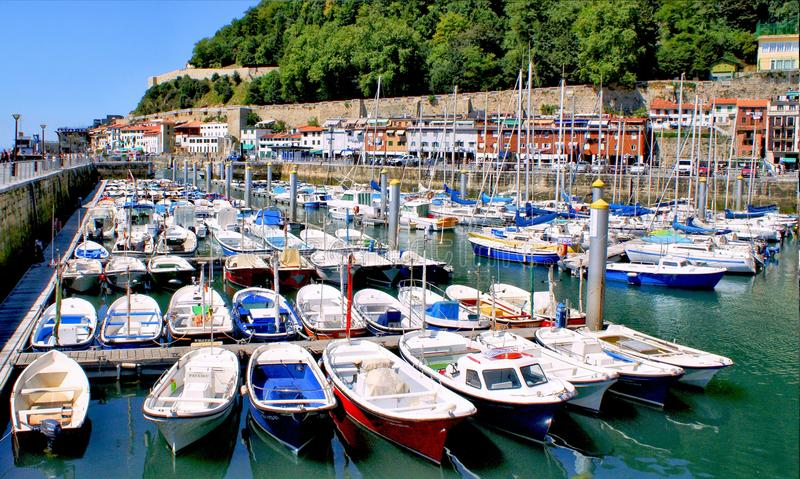 Download San Sebastian (Donostia) Harbour Stock Image - Image of donostia, landscape: 28204029
