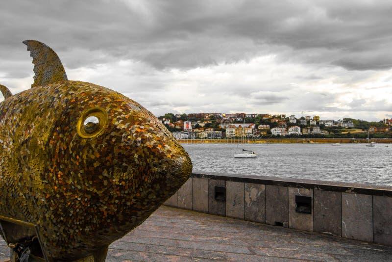 San Sebastian Fish Statue stockbild