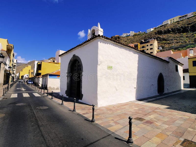 San Sebastian on Gomera. San Sebastian de la Gomera - capital city of Gomera island, Canary Islands, Spain royalty free stock images