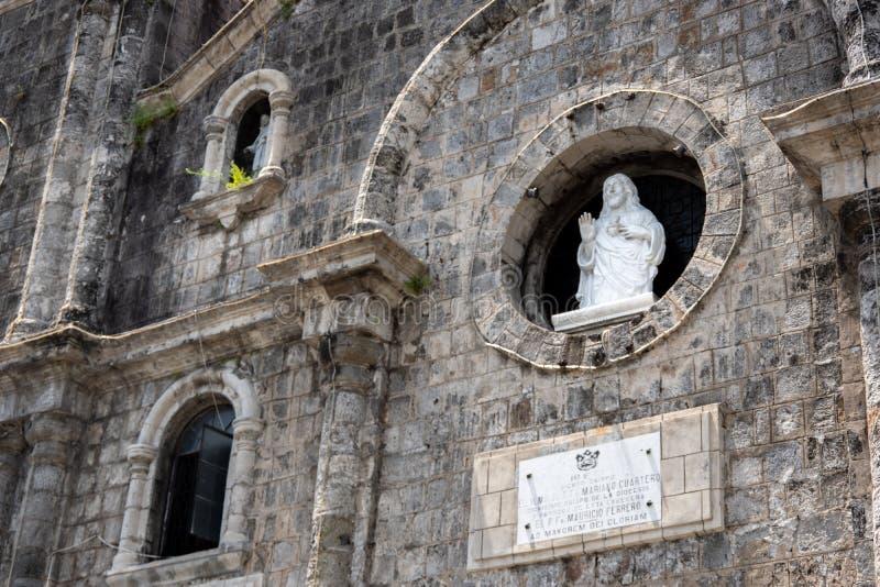 San Sebastian katedra w Bacolod obrazy royalty free