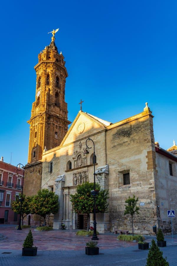 San Sebastian ko?cielny wierza w Antequera, Malaga prowincja, Andalusia, Hiszpania obraz royalty free