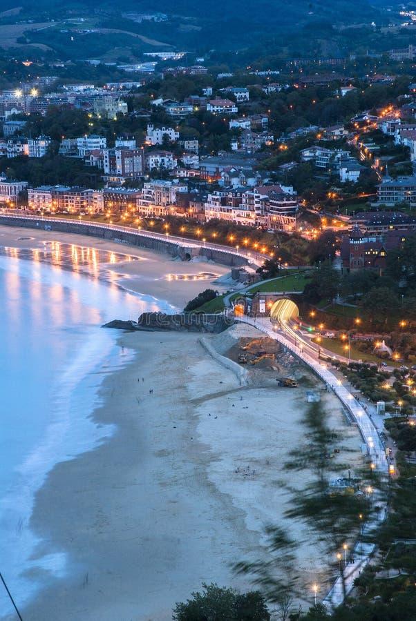 San Sebastian landscape. In basque country, Spain stock image