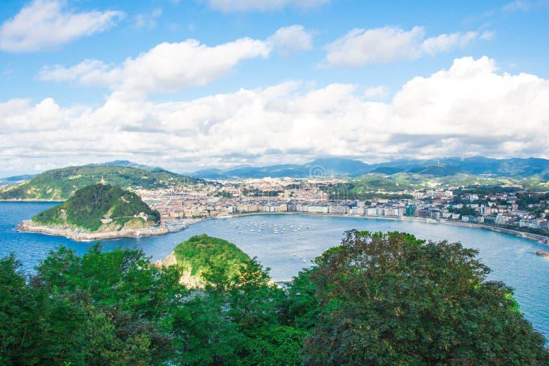 San Sebastian Landscape royalty free stock photos