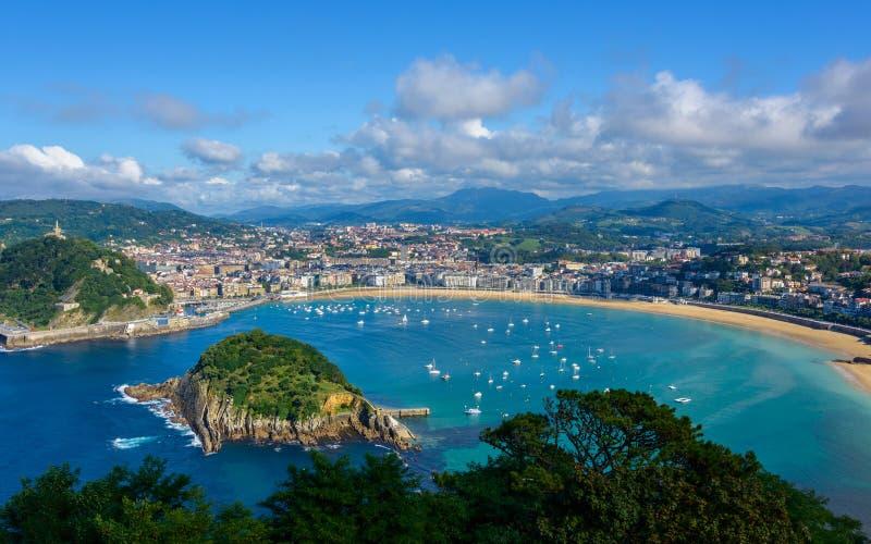 San Sebastian in Spain. San Sebastian in the Basque Country, Spain royalty free stock images