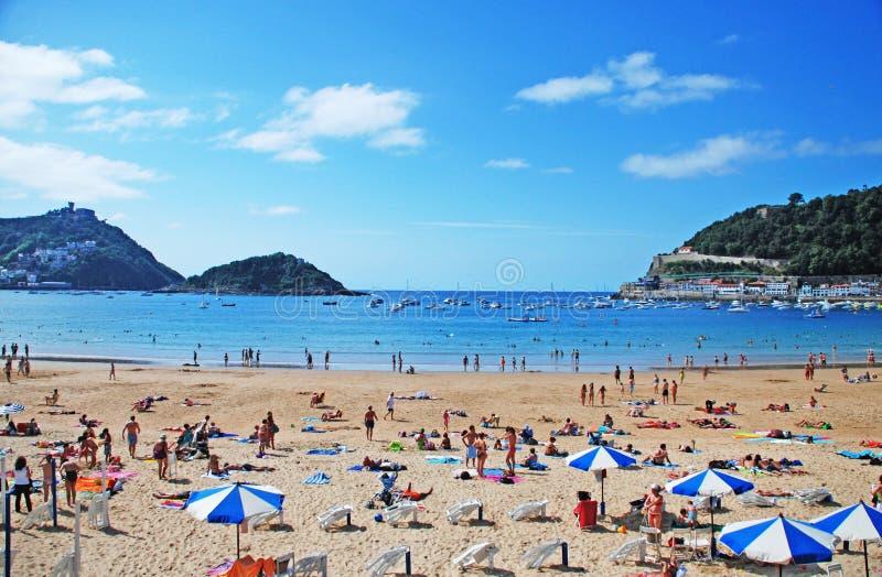 San Sebastian Strand. stockbild