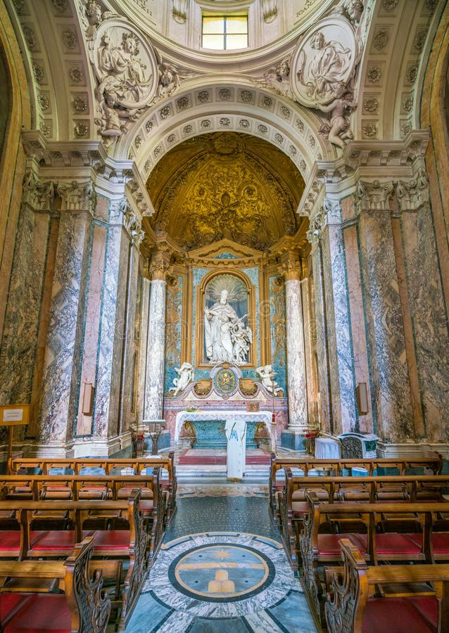 Albani Chapel in the Basilica of San Sebastiano Fuori Le Mura, in Rome, Italy. San Sebastiano fuori le mura Saint Sebastian outside the walls, or San Sebastiano stock images