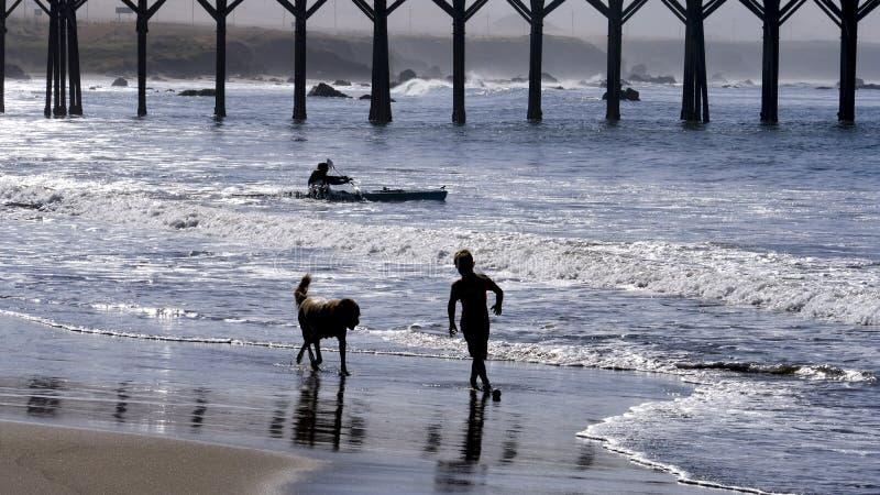 San Simeon Beach stock foto's