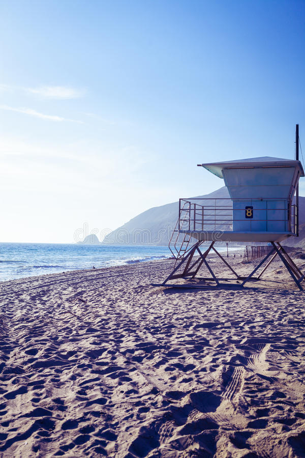 San Simeon Pines Seaside beach area stock images