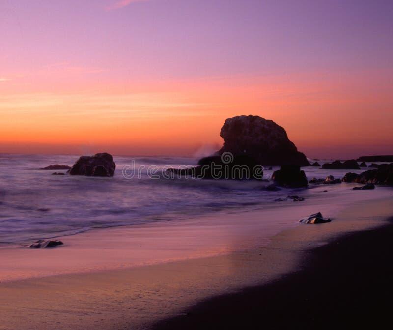 San Simeon solnedgång arkivbilder