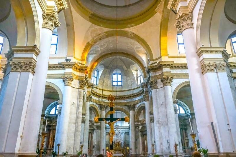 San Simeone Basilica Dome Church Crucifix Venezia Italia fotografia stock
