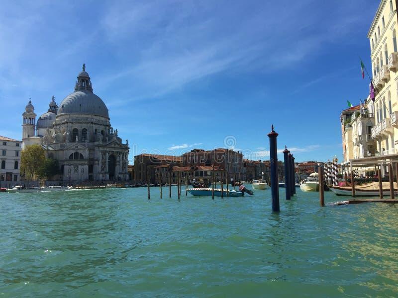 San Simeone Piccolo kyrka Venedig Italien arkivfoton
