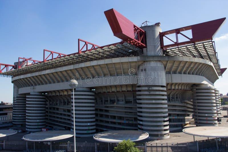 San siro meazza stadium w Mediolan fotografia stock