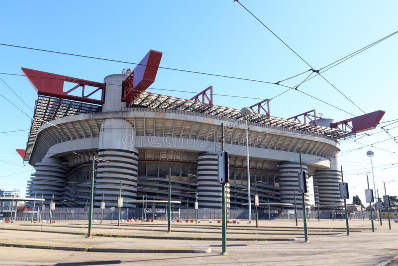 San Siro stadium Giuseppe Meazza w Mediolan zdjęcie stock