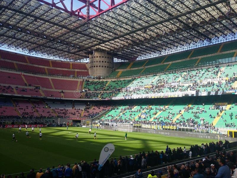 San Siro Stadium in Mailand lizenzfreies stockbild