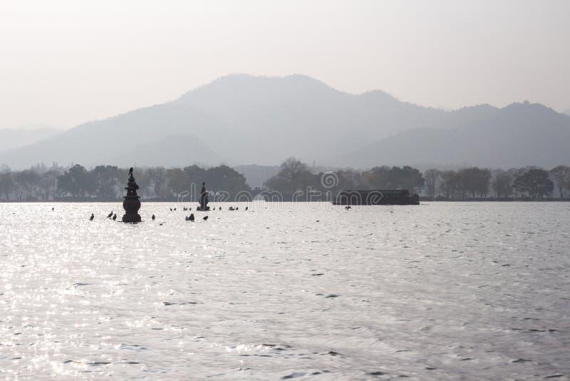 San Tan Ying Yue i Hangzhou Kina arkivfoton