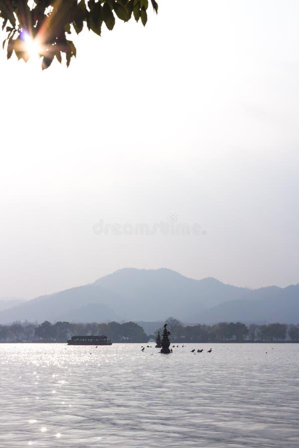 San Tan Ying Yue i Hangzhou Kina arkivbild
