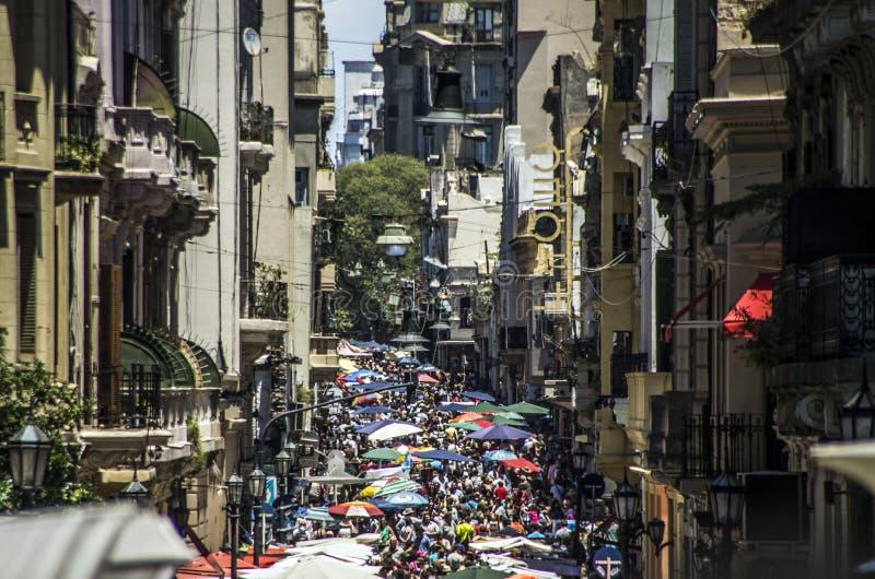 San Telmo em Buenos Aires imagem de stock