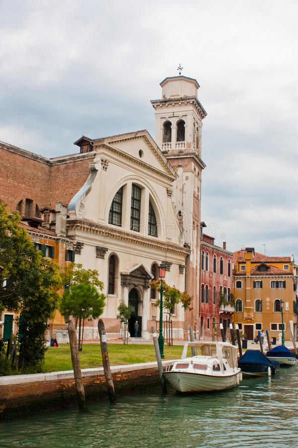 San Trovaso Church. San Trovaso (dedicated to sts. Gervasius and Protasius) is a church in the sestiere or neighborhood of Dorsoduro in Venice, northern Italy royalty free stock images