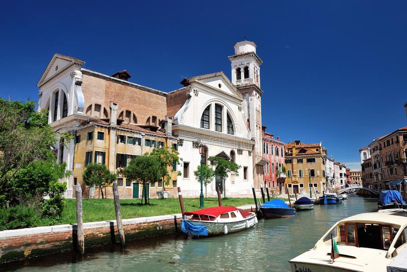 San Trovaso church in Venice. Italy royalty free stock photos