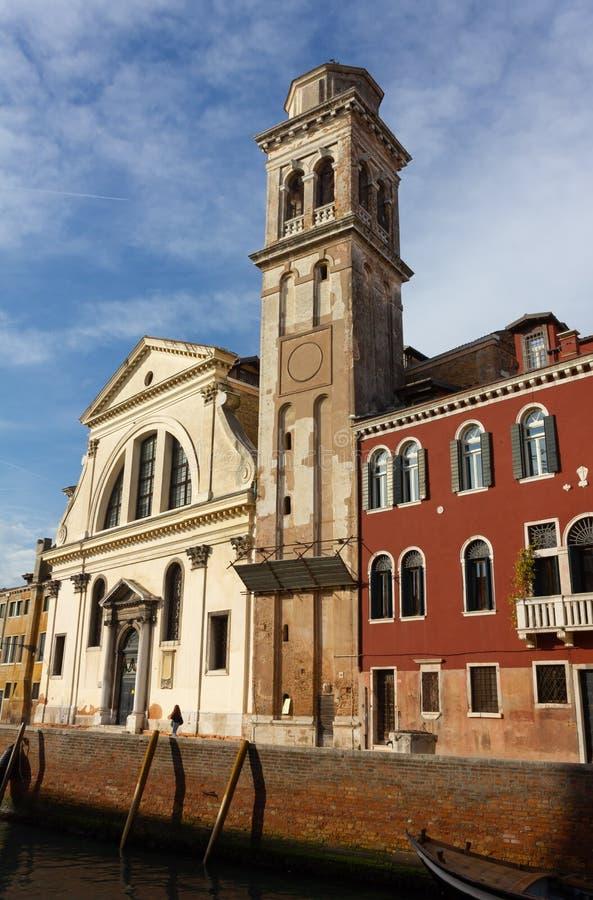 San Trovaso kyrka i Venedig royaltyfria bilder