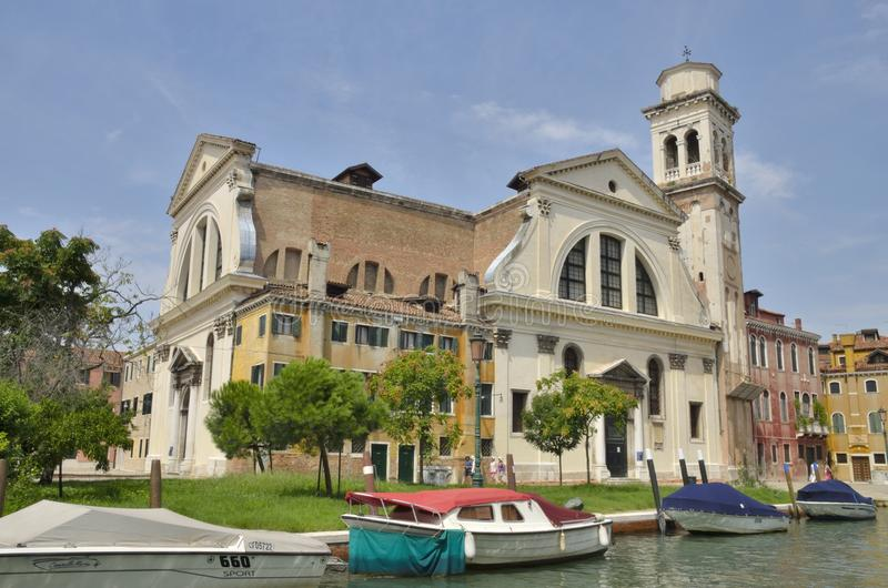 San Trovaso with two facades. San Trovaso is a church in the sestiere or neighborhood of Dorsoduro in Venice, northern Italy stock images