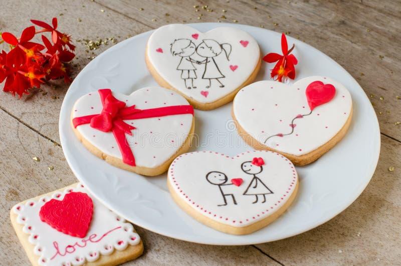 San ValentÃn - biscotti di nozze fotografia stock