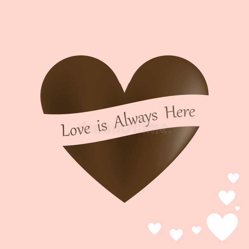 San Valentino felice, il cuore alla moda del cioccolato ha modellato, isolato su fondo illustrazione vettoriale