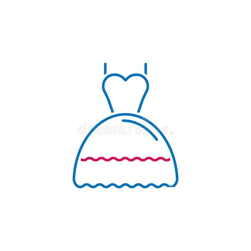 San Valentino, icona del vestito Può essere usato per il web, il logo, il app mobile, UI, UX illustrazione vettoriale