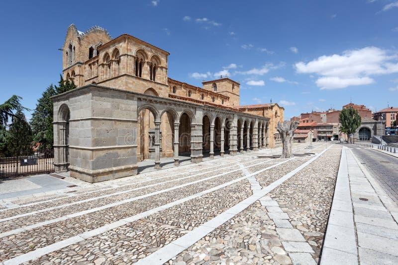 San Vicente Basilica en Ávila, España foto de archivo libre de regalías