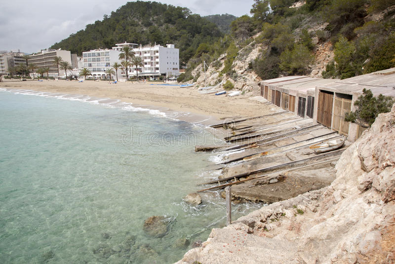 San Vicente Beach, Ibiza, Balearic Island royaltyfria bilder