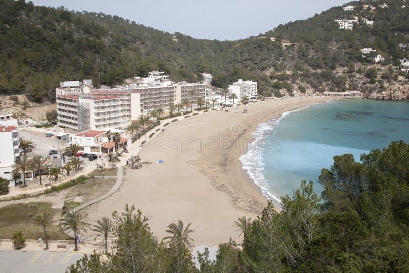 San Vicente Beach, Ibiza, Balearic Island arkivbild