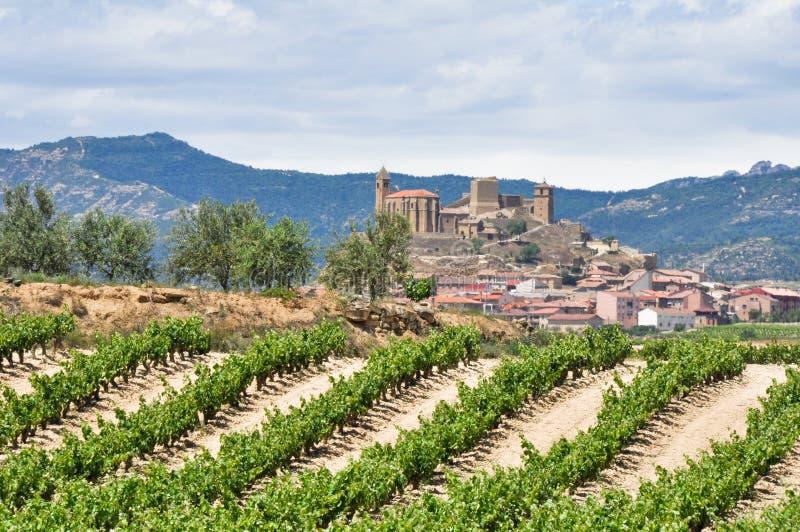 San Vicente DE La Sonsierra, La Rioja (Spanje) royalty-vrije stock afbeeldingen