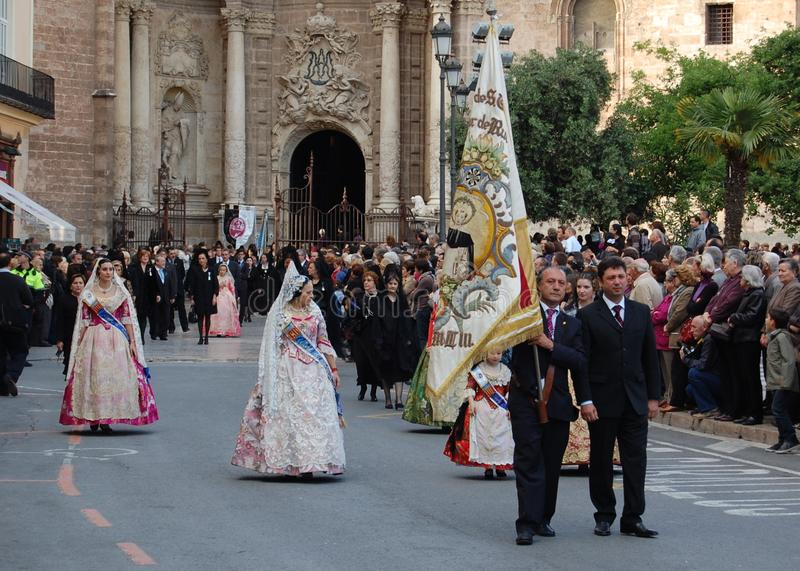 San Vicente procession in Valencia royalty free stock photos