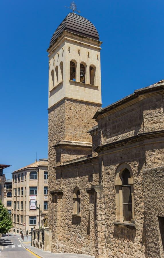 San Vincente Ferrer kościół w historycznym centrum Alcoy zdjęcie royalty free