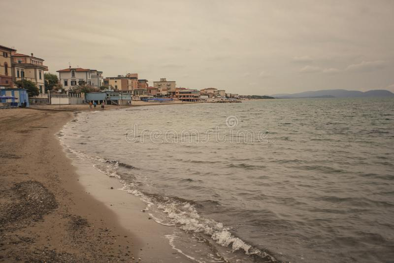 San Vincenzo Beach stock afbeelding