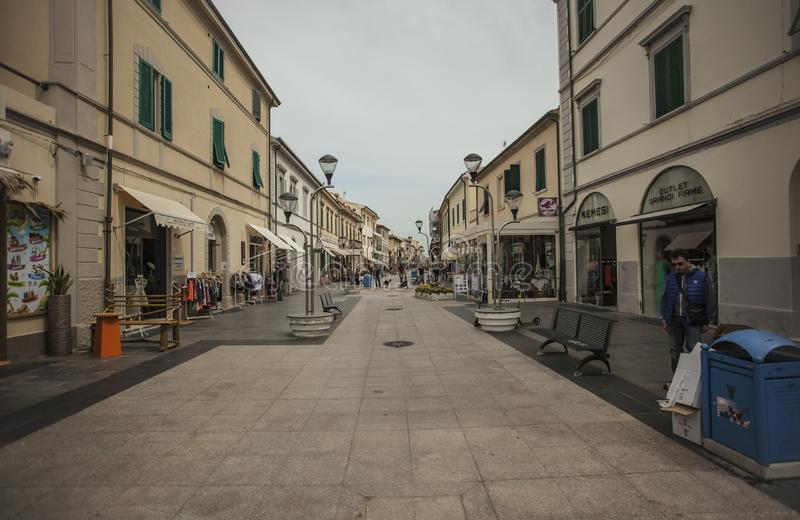 San Vincenzo in Italy. View of the historic center of the city of San Vincenzo in Italy stock photo