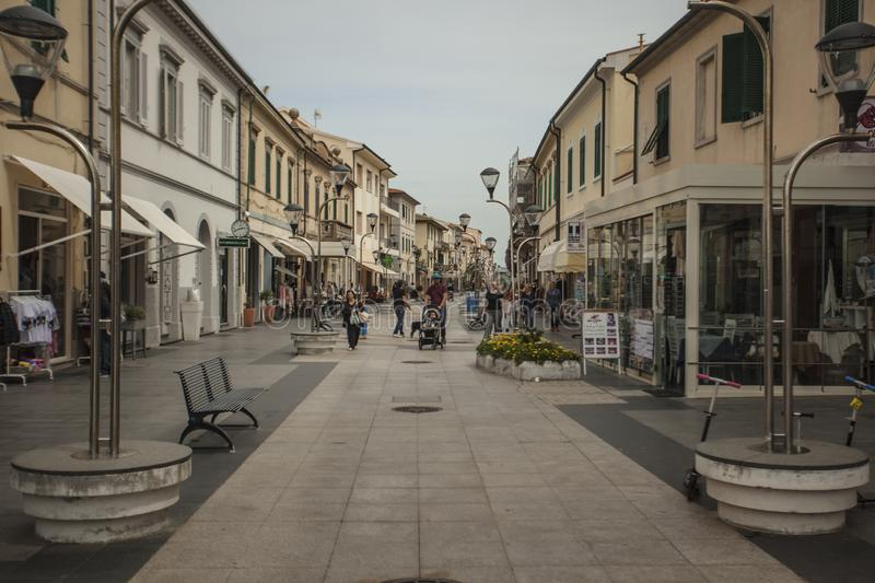 San Vincenzo in Italy #2. View of the historic center of the city of San Vincenzo in Italy #2 royalty free stock image